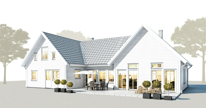 Trivselhus b 011 for Scandinavian house plans